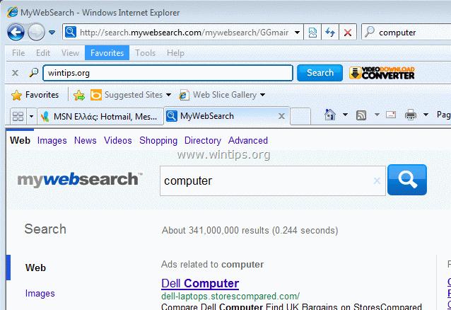 mywebsearch bar