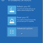 How to enter Advanced options in Windows 8 when your computer does not boot