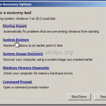 How to use the system repair disc in Windows 8, 7 and Vista.