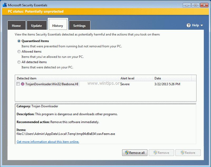 How to remove TrojanDownloader:Win32/Beebone.HI \u0026 Trojan ZbotR.Gen