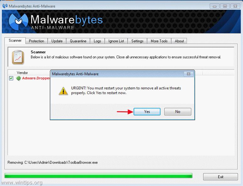 Can't stop Malwarebytes running.