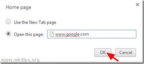 Change Tab page - chrome