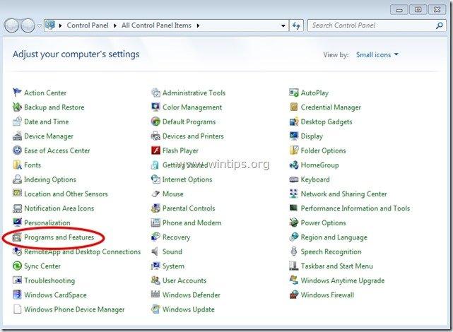 control panel items - wintips.org