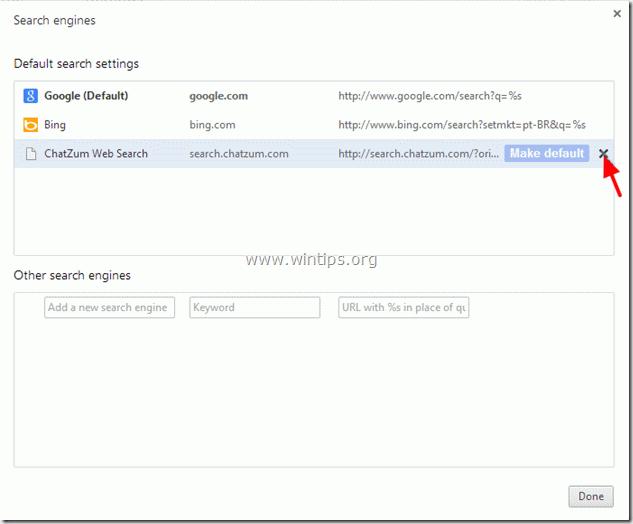 remove ChatZum Search engine - chrome