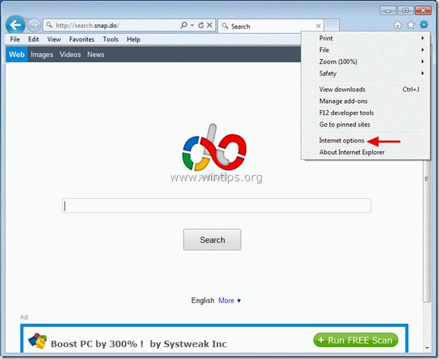 remove snap.do - internet explorer