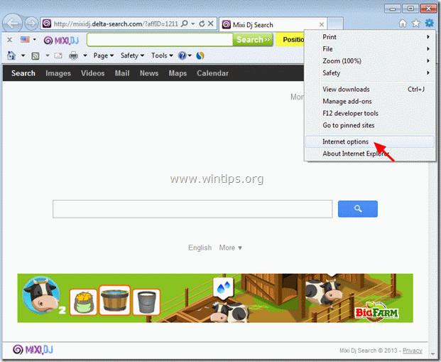 remove MixiDJ search Toolbar - internet explorer