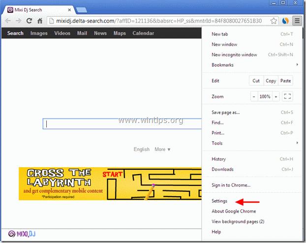 remove MixiDJ search Toolbar - chrome
