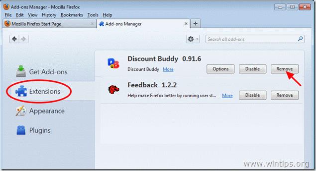 remove discount buddy - firefox
