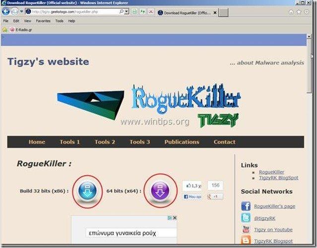 roguekiller webpage