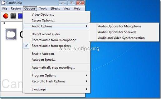 camstudio audio options