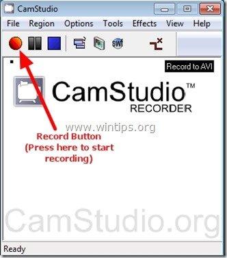 camstudio record button