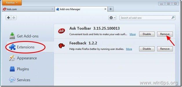 remove-ask-toolbar-firefox