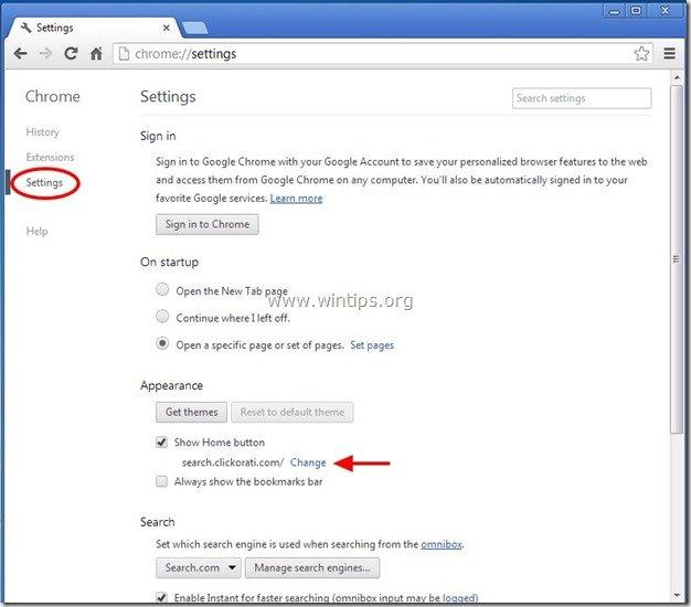 remove-clickorati-new-tab