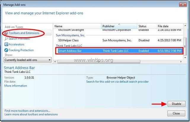 remove-smart-address-bar-extension