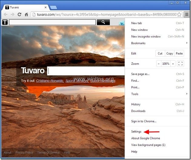 remove-tuvaro-chrome