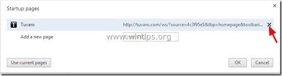 remove-tuvaro-startup-page-chrome