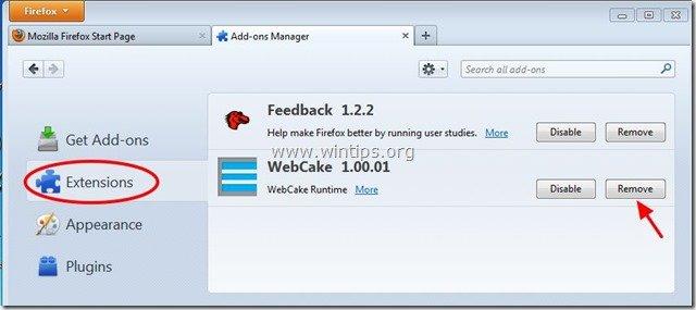 remove-webcake-firefox
