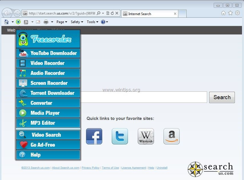 freecorder toolbar windows 7