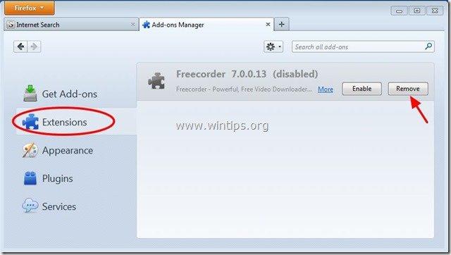 remove-freecorder-firefox
