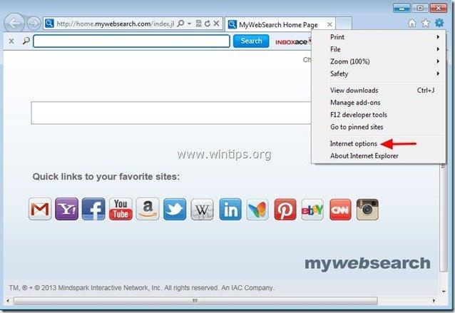 remove-inboxace-internet-explorer