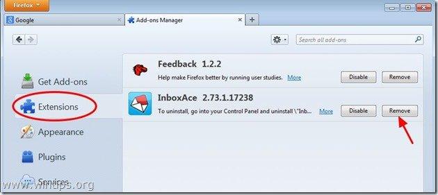 remove-inboxace-toolbar-firefox