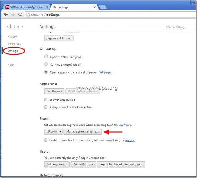 remove-v9-search-engine