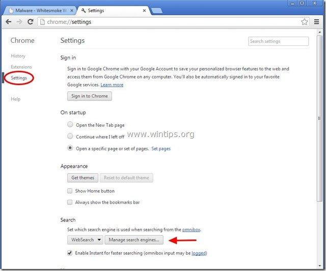 remove-websearch-whitesmoke-search-engine-chrome