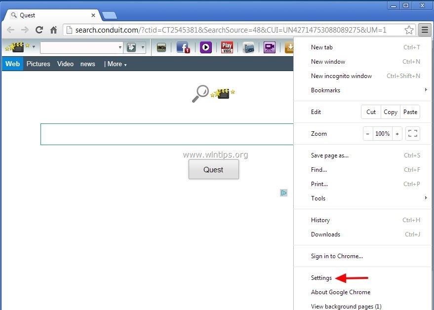 remove-welovefilms-toolbar-chrome