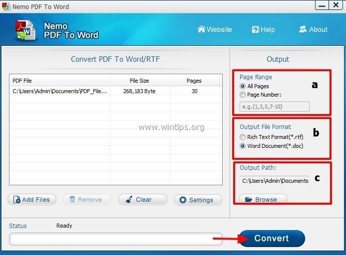 Ubah pdf ke word secara online