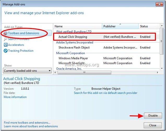 remove-acual-click-shopping-internet-explorer