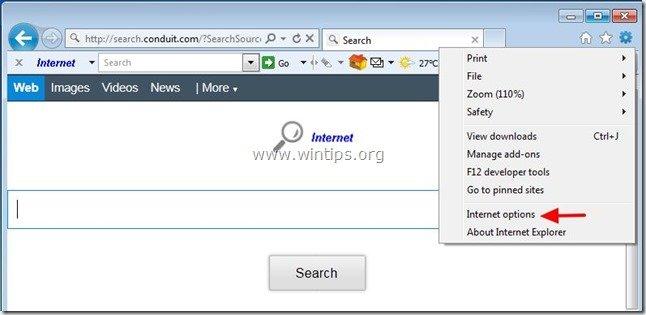 remove-internet-helper-toolbar-internet-explorer