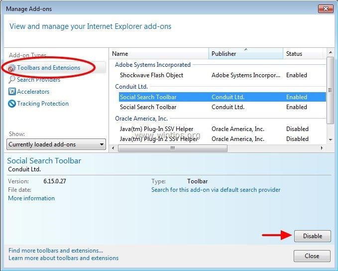 Remove Social Search Toolbar Browser Hijacker