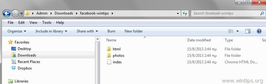 how to download all facebook photo folder