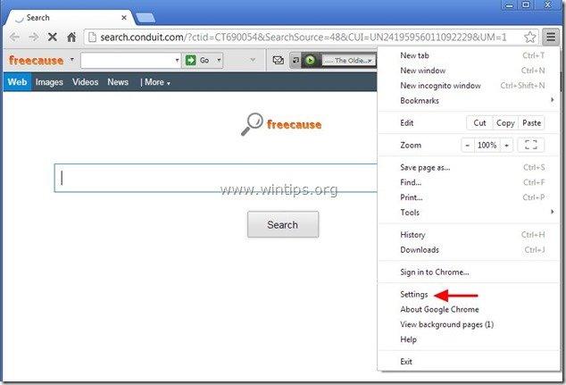 remove-freecause-toolbar-chrome