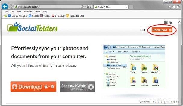 socialfolders webpage