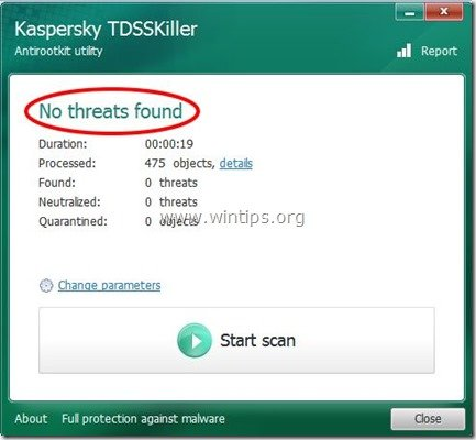 tdsskiller-no-threats-found