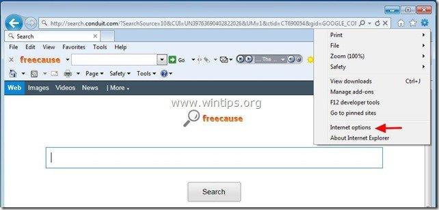 uninstall-freecause-toolbar-internet-explorer