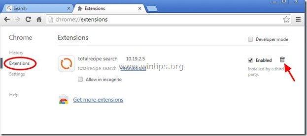 remove-totalrecipe-search-extension