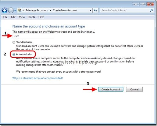 how to set up administrator account
