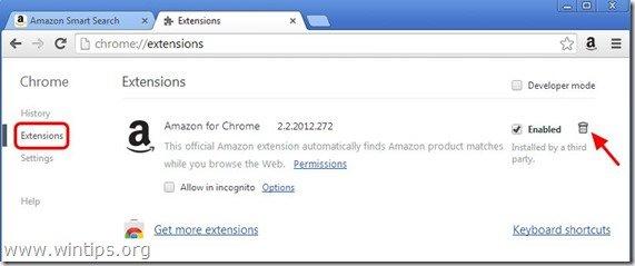 remove-amazon-extension