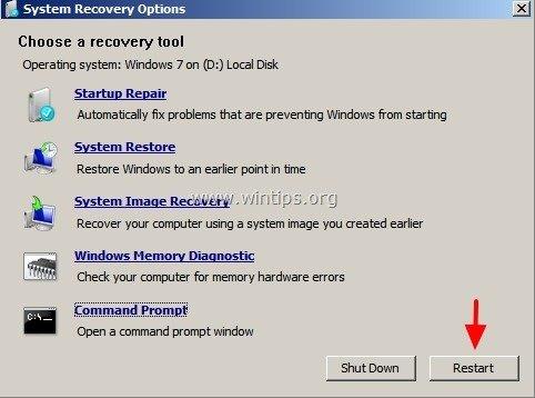 repair your computer windows 7 startup