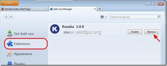 remove-kozaka-firefox