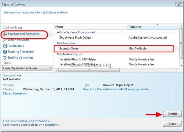 remove-scorpion-saver-internet-explorer