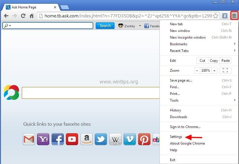 zwinky toolbar
