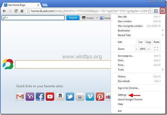 remove-zwinky-toolbar-chrome