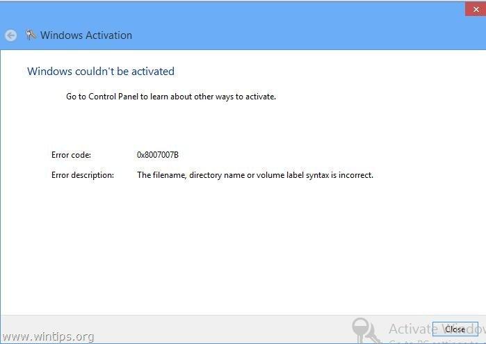 activation error 0x8007232b
