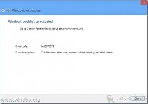windows 8.0 pro activation key