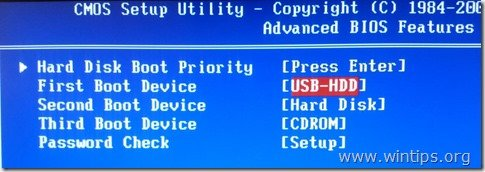 first-boot-device-usb