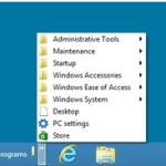 How to add a Program List menu on Windows 8 Desktop Interface