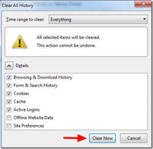 how to delete passwords on firefox